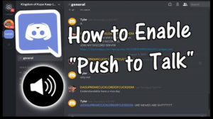 How to Enable/Disable Discord Push to Talk
