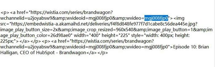 Copy  Wistia Video URL Link