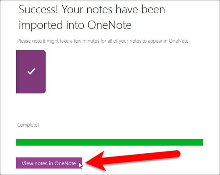 Import OneNote