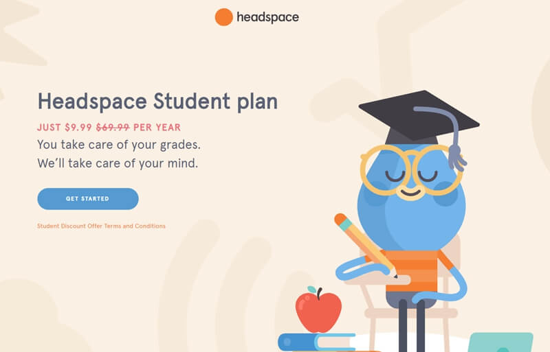 Headspace student plan cost