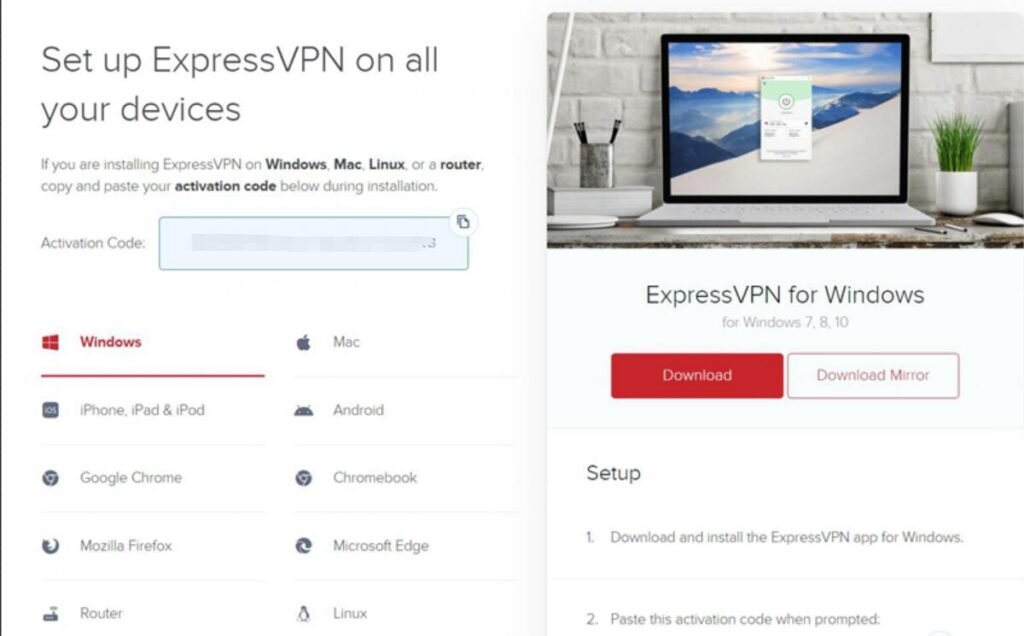 Set Up ExpressVPN on Windows PC